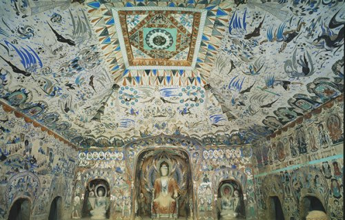 The largest and best preserved cave from the Western Wei Dynasty (Mogao Cave 285). (Photo/Chinaculture.org)